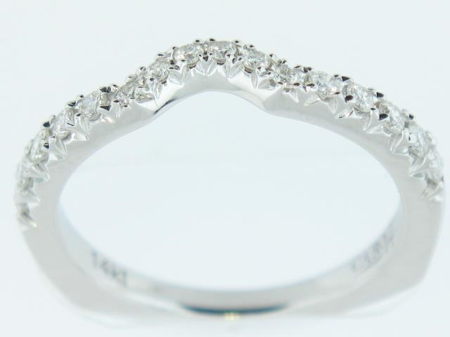 "14K Wite Gold ""Caro74"" Diamond Band With 0.32 Carats Total Weight Diamonds"