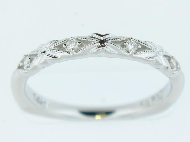 "14K White Gold ""Caro74""  Diamond Band With 0.06 Carats Total Weight"