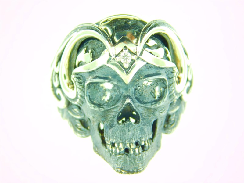 Sterling Silver Galatea Mortality Skull Ring Size 10